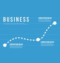 Blue business chart graph design vector