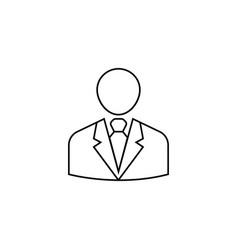 businessman line icon user business vector image