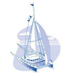 Catamaran vector image vector image