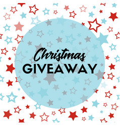 Christmas giveaway banner template for blogs vector