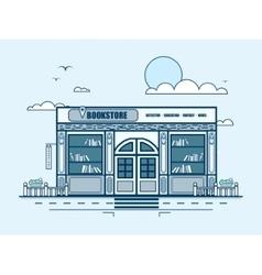 City street with bookstore bookshop modern vector