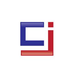 cj letter logo vector image vector image
