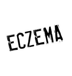 Eczema rubber stamp vector