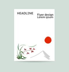 floral flyer design wild orchid vector image