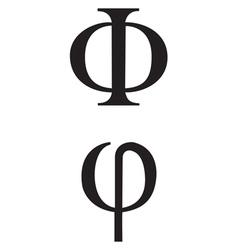 Greek symbol phi vector