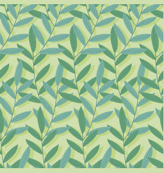 green tropical seamless pattern background of vector image