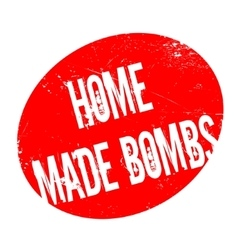 Home made bombs rubber stamp vector
