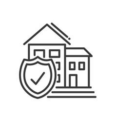 Insurance - modern line design vector
