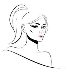 Lineart girl vector