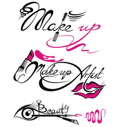 Makeup artist banner with business concepts vector
