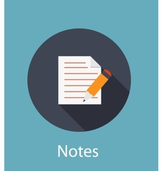 Notes Flat Concept Icon vector image vector image