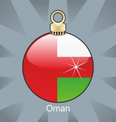 Oman flag on bulb vector image vector image