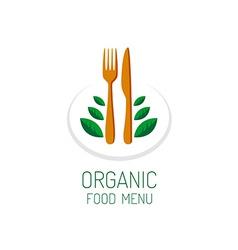 Organic food menu title logo template Vegetarian vector image vector image