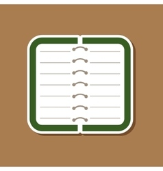 Paper sticker on stylish background notebook vector