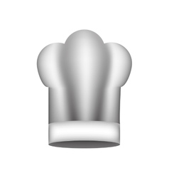Realistic silhouette of chefs hat large vector