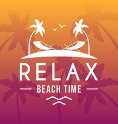 Retro summer holidays vintage label design vector
