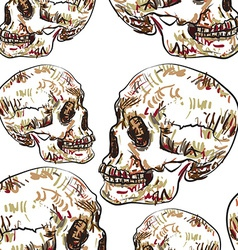 Seamless pattern of skull vector image vector image