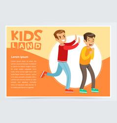 teen aggressive boy bullying classmate vector image vector image