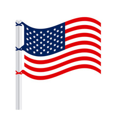 united states flag icon vector image