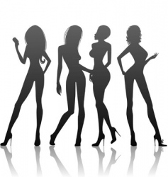 women's silhouette vector image vector image
