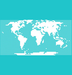 World map dotted square vector