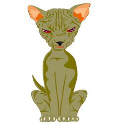 Cat of the sort sphinx vector