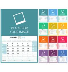 english calendar 2018 vector image
