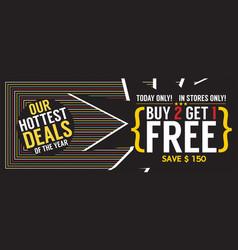 Buy 2 get 1 free 5000x1989 pixel banner vector