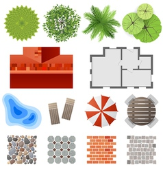 landscape design set vector image