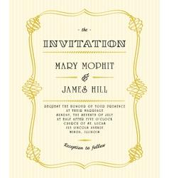 Classic wedding invitations vector image