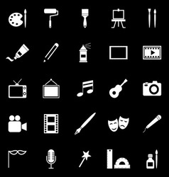 Art icons on black background vector