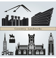Coventry landmarks and monuments vector
