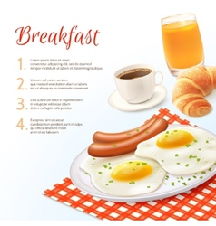 Breakfast food background vector