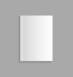 Blank empty magazine template vector