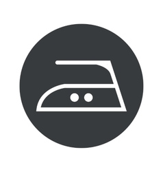 Monochrome round ironing icon vector