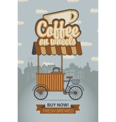 Mobile coffee shop vector