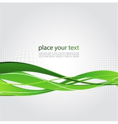Abstract background with green wave vector