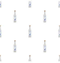 Bottle of ouzo icon in cartoon style isolated on vector
