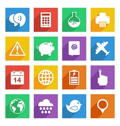 bright media icons set 3 vector image vector image