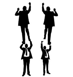 Businessmen climbing on each other vector