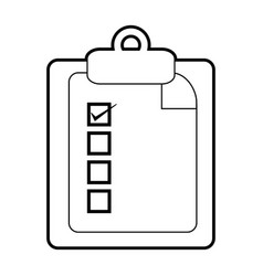 Checklist with pencil icon image vector