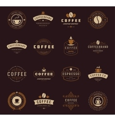 Coffee shop logos badges and labels design vector