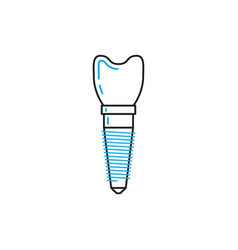dental implant vector image vector image