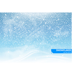 Falling snow on a blue background vector