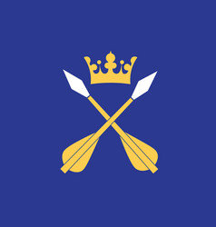Flag of dalarna is a historical province in vector