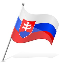 Flag of slovakia vector