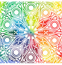 Flower mandala design in oriental style vector