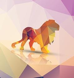 Geometric polygonal lion pattern design vector image