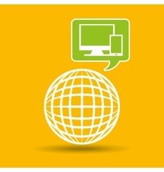 Globe development technology laptop mobile vector