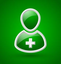 Glossy doctor or nurse icon vector image vector image